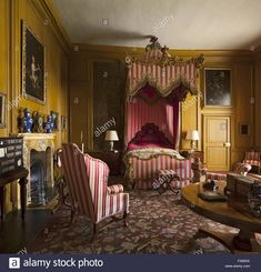 Belton House, Harewood House, English Interior, Queen Bedroom, Rococo Style, World Of Interiors, Eclectic Decor, Beautiful Bedrooms, Castles