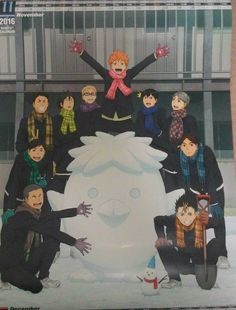 "raggirare: "" So I got my hands on the Haikyuu 2016 Wall Calendar today and I regret nothing. Haikyuu Karasuno, Haikyuu Funny, Haikyuu Fanart, Kagehina, Nishinoya, Daichi Sawamura, Haikyuu 3, Fanarts Anime, Manga Anime"