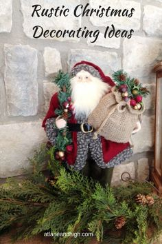 If you are interested in Rustic Christmas Decor then you will want to see this. Here I have showcased Rustic Christmas Decorating Ideas for your home. There are ideas for a Rustic Christmas Mantel and Christmas Vignette Ideas. Christmas Tablescapes, Christmas Mantels, Diy Christmas Ornaments, Rustic Christmas, Christmas Vignette, Christmas Decorations, Holiday Decor, Seasonal Decor, Holiday Ideas