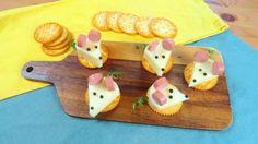 Crackers, formaggio e wurstel, ecco come realizzare dei simpatici topolini perfetti per un aperitivo! L'idea semplice e veloce da realizzare!
