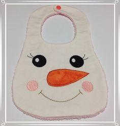 Bavaglia Pupazzo di neve per bimba di unfilotiralaltro su Etsy