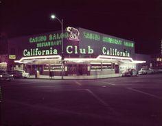 California Club on the southeast corner of Fremont &  1st, Las Vegas, 1950s.✿❀