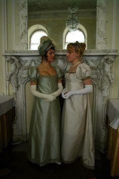Pretty reproduction dresses silk dupon, silk taffeta