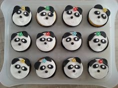 Panda cupcakes als traktatie