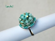 "DIY TUTORIAL: anello ""Ray of light""/""Ray of light"" ring (Simple beading ..."