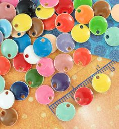 120 8mm Colorful Dot Drops The Perfect Quantity to make a bracelet or several pairs of earrings by UnkamenSupplies, $20.00