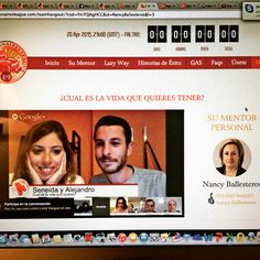 Estoy en el hangout en directo! Increíble! http://nancyballesterosen.com/c/hangoutlunespresentación