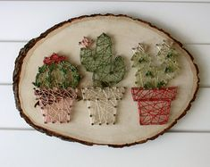 Potted Cacti String Art