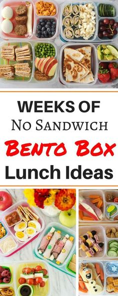 Healthy Creative School Lunch Ideas for Your Bento Box.Months worth of healthy make ahead school lunch ideas for kids, for teens, and for adults! These easy no sandwich bento box recipes are perfect for picky eater# bento Creative School Lunches, Kids Lunch For School, Lunch Ideas For Teens, Bento Box Lunch For Adults, Cold Lunch Ideas For Work, Preschool Lunch Ideas, Lunch Box Ideas For Adults Healthy, Kids Bento Box, Lunch Ideas For Preschoolers