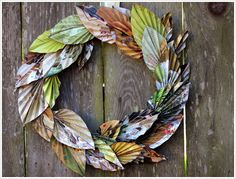 This wreath made from magazine pages is easier to make than you think.