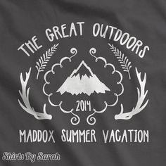 Personalized Great Outdoors T-Shirt Hipster Family Camping TShirt Custom Men's Women's Vacation Shirts