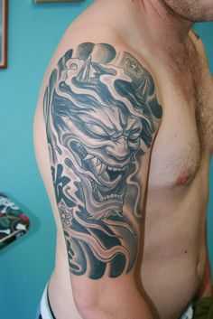 Japanese half sleeve tattoo demon | Hannya mask | Chavdar Dobrev | Flickr