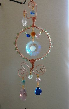 Crystal  Suncatcher with Sunface multi Prims by LifeForceEnergy, $42.00
