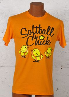"Too Cute!!! Fast Pitch Softball ""Softball Chick"" Graphic T-Shirt"
