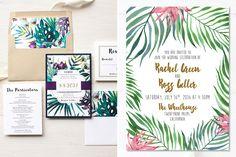 Faire-part mariage botanique minimaliste - Tropical- Lyon-mariage.com