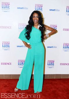 One of our favorite looks at the ESSENCE Music Festival was Michelle Williams' one-shoulder jumpsuit. The color is vibrant and the wide-leg, flutter sleeve style gives the jumpsuit a fresher feel.