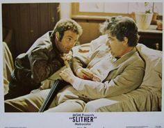 Slither Lobby Card #3, 1973, MGM, Condition NM-, size 11 x 14, stars James Caan, Peter Boyle, Sally Kellerman, Louise Lasser, Allen Garfield, and Richard B. Shull. Written by W. D. Richter. Directed by Howard Zieff. $9