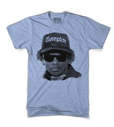 """Eazy-E, was an American rapper who performed solo and in the hip hop group N. He is affectionately called """"The Godfather of Gangsta rap"""". This woodcut wa American Rappers, The Godfather, Printed Shirts, Hip Hop, Group, Tees, Random Things, Mens Tops, Clothes"""
