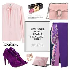 """""""Keep your heels high!"""" by helenevlacho ❤ liked on Polyvore featuring Pedro García, Peter Pilotto, M Missoni, Gucci, Chanel, OPI, Michael Kors and FratelliKarida"""