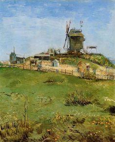 Le Moulin de la Gallet by Vincent van Gogh #art