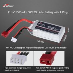 10.99$  Watch here - http://ai82b.worlditems.win/all/product.php?id=RM5953 - JHpower 11.1V 1500mAh 30C 3S Li-Po Battery with T Plug for RC Drone Airplane Car Truck