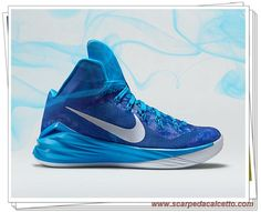 best service 59b33 c7459 scarpe calcio bambino Nike Hyperdunk 2014 TB 653484-404 Blu intenso Blu  Hero Bianco Argento metallizzato
