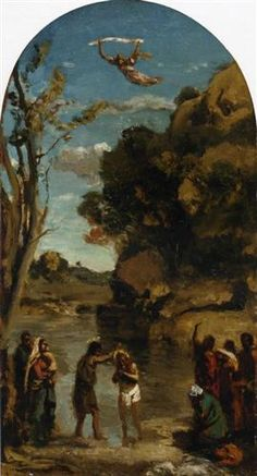 The Baptism of Christ (study) - Camille Corot