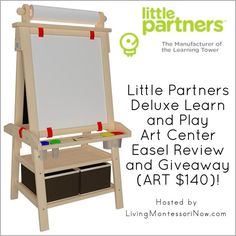 Little Partners Deluxe Learn and Play Art Center Easel Review Review and Giveaway (ARV $140)