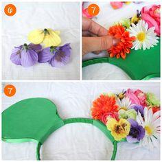 DIY Floral Mickey Ea