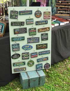 Hand-painted signs on display at Austin Pagan Pride. Air Fire, Water Me, Hand Painted Signs, Good Vibes Only, Faeries, Smudging, Pagan, Pride, Handmade Items