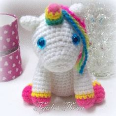 PATRON GRATIS UNICORNIO AMIGURUMI 27794 Amigurumi Animals, Cat Amigurumi, Amigurumi Patterns, Crochet Patterns, Crochet Mermaid, Crochet Unicorn, Hello Kitty Crochet, Crochet Horse, Amigurumi For Beginners