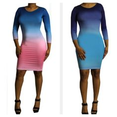 Ombre Dresses are now avail @Bemorecouture.com! Very Sexy & Trendy!