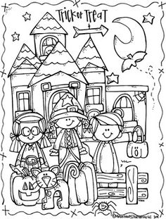 I love this Halloween coloring Page Freebie by Melonheadz - so cute and appealing!