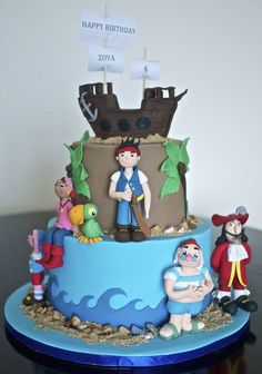 jake and the neverland pirates cakes | Jake and the neverland Pirates - by Partymatecakes @ CakesDecor.com ...