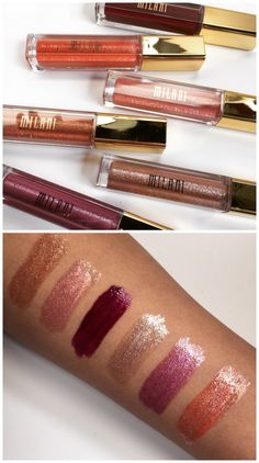 We are so in love with Milani Fierce Foil Lip Glosses. These six colors really catch the light and make your lips pop. But the effect is chic, not mega-glitz!