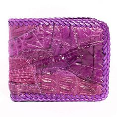Genuine Crocodile Alligator Leather Violet Bifold Men Wallet Purse by Kanthima | eBay