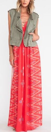 Flamingo Smock Bandeau Maxi Dress