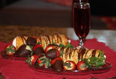 Cream Horns and Chocolate Covered Strawberries for strawberry season! #June #summer #food #recipe