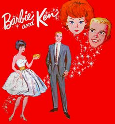 'Barbie and Ken' Vintage Artwork