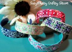 Craft stick bracelets! Fun program craft for kids or teens.