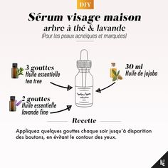 DIY Face serum for acne prone and marked skin Twist Outs, Make Beauty, Beauty Care, Japanese Face, Home Remedies For Acne, Natural Face, Natural Beauty, Face Serum, Diy Skin Care