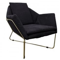 vega armchair with brass legs