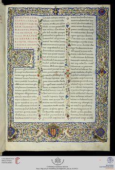 Vatikan, Biblioteca Apostolica Vaticana, Pal. lat. 41 Manettus, Iannotius Psalterium triplex ∙ Apologeticus — Neapel, nach 1455 und vor 1459