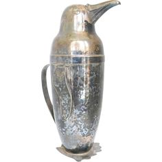 Napier Silver-Plated Penguin Cocktail Shaker, Art Deco, 1936