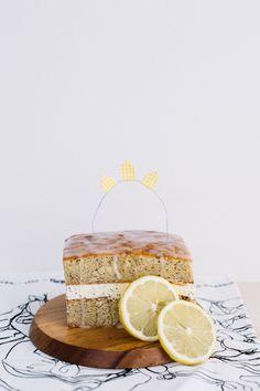 Lemon Drizzle Ice Cream Cake #dessert #recipes