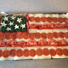 4th of July Pizza.......cool!
