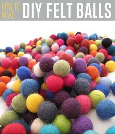 How to Make DIY Felt Balls | Cool Crafts For Kids By DIY Ready. http://diyready.com/how-to-make-felt-balls/