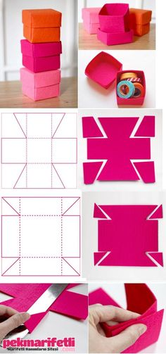 ~making a cute box~ - Beste Reparatur Diy Gift Box, Diy Box, Diy Gifts, Felt Crafts, Diy And Crafts, Crafts For Kids, Paper Crafts, Moldes Para Baby Shower, Sewing Projects