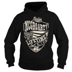 I Love Last Name, Surname Tshirts - Team MCGROARTY Lifetime Member Eagle T-Shirts