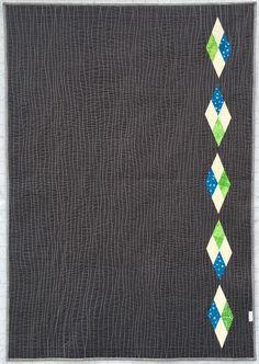 "2.5"" Strips, Blue Green Quilt, Creative Quilt Back, Diamonds, Pieced backing"